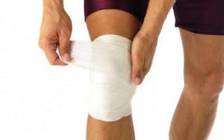 Какая повязка применяется при повреждении коленного сустава